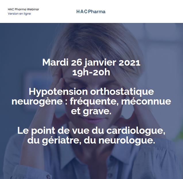 Webinar Hypotension orthostatique neurogène